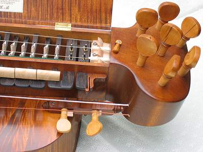 Key detail of custom Hurdy Gurdy by Chris Allen and Sabina Kormylo