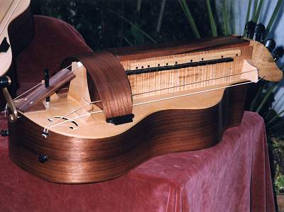 Undecorated copy of Colson a Mirecourt Hurdy-Gurdy by Chris Allen and Sabina Kormylo
