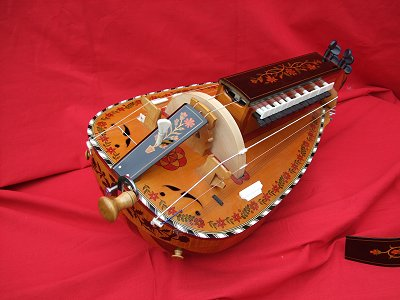 Highly decorated copy of original 1892 Nigout Hurdy Gurdy from Chris Allen and Sabina Kormylo collection