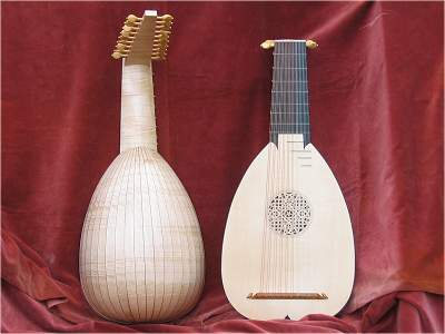 10 course Tieffenbrucker Lute by Chris Allen and Sabina Kormylo