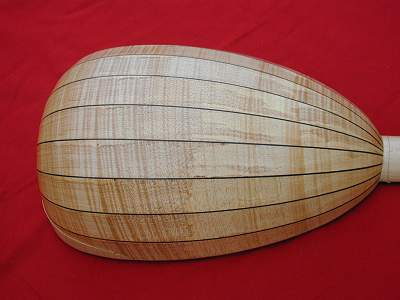 Alternative back of Venere Lute by Chris Allen and Sabina Kormylo