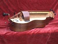 Colson guitar-bodied hurdy-gurdy, no decoration